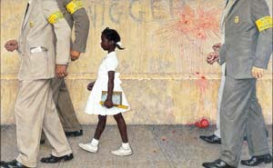 Problem We All Live With painting by Norman Rockwell