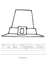 P is for Pilgrim Hat