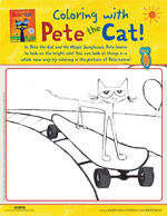 Coloring With Pete the Cat