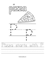 Pizza Starts with P