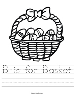 Easter B is for Basket