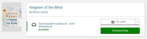 Kingdom of the Blind Audiobook Catalog Screenshot