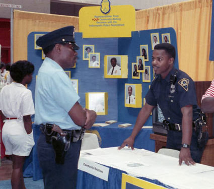 Impd Officers At Black Expo