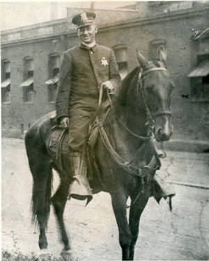 Mounted Police Officer Grover Hinton 1900S