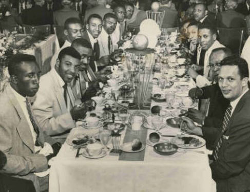 Crispus Attucks High School Basketball Team Celebration Dinner Photograph