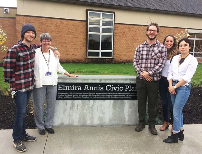 Elmira Annis Civic Plaza Dedicated at the Irvington Branch