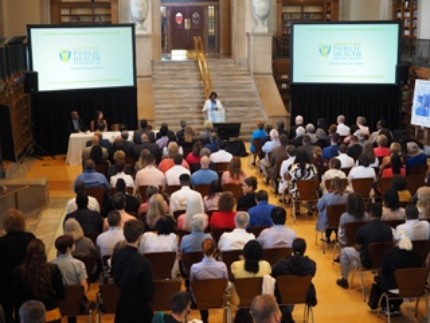 Central Library Plays Host to Major Public Health Announcement